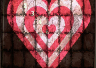 Heart Shaped Axe Throwing Target