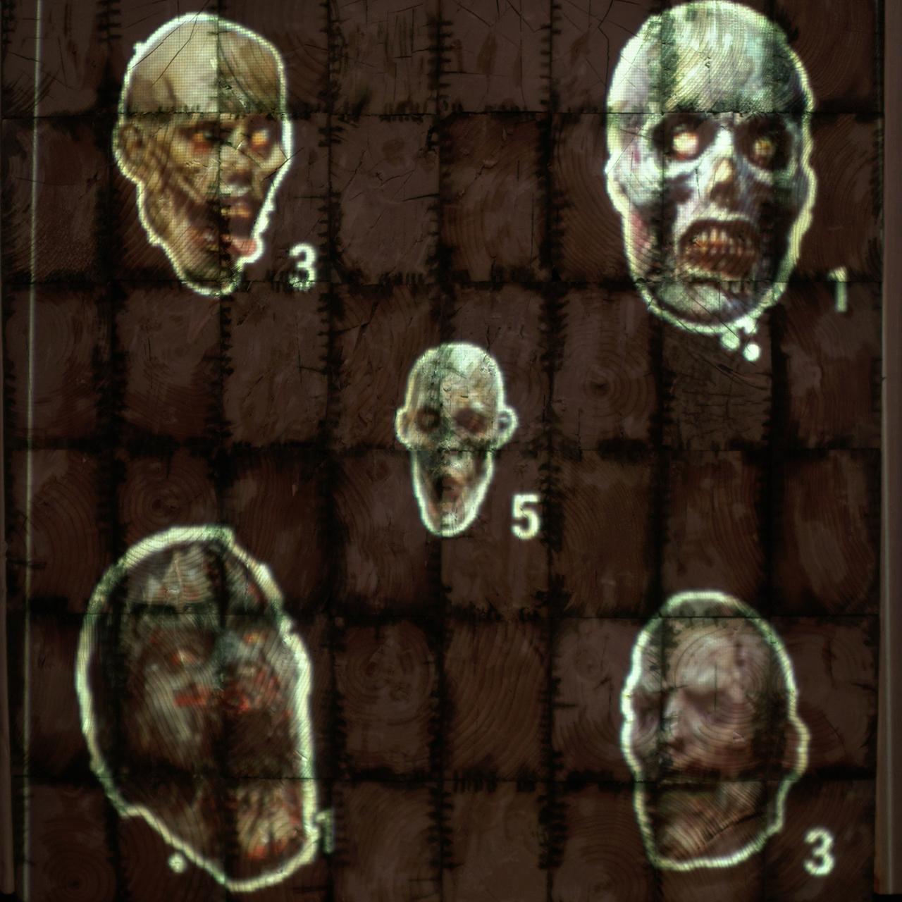 Zombie Head Hunt Axe Throwing Target